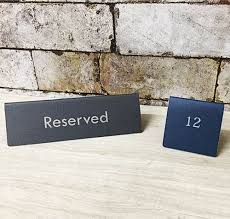 metal reserved table signs table signs tarsus engraved metal reserved tent signs scratch