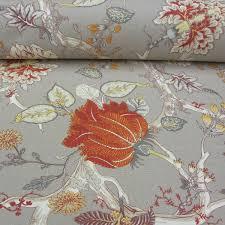 Orange Curtain Material Bukhotta Extra Wide Orange And Grey