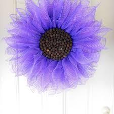 Sunflower Mesh Wreath Best Deco Mesh Flower Wreath Products On Wanelo