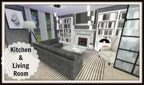 Sims Kitchen Ideas Sims 4 Speed Build Modern Kitchen U0026 Living Room Youtube