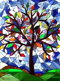 tree of mosaic tree of glass mosaic by bev green