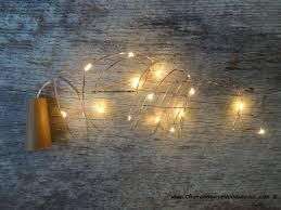 cork wine bottle lights warm white on copper wire church house