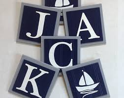 baby plaques personalized nautical name sign etsy