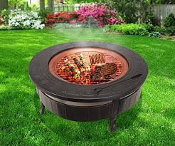 Bbq Firepit Raygar Fp34 Multifunctional 3 In 1 Outdoor Garden Pit