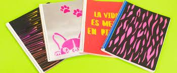 como forrar un cuaderno con tela youtube 4 maneras para decorar tus cuadernos catwalkcanal