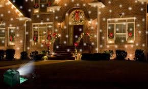 falling snowflake christmas lights light flurries led projector groupon goods