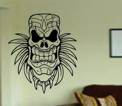 tiki skull decal sticker wall mural art graphic vintage baby tiki skull decal sticker wall mural art graphic vintage baby nursery office room boy girl central eastern polynesian day of the dead