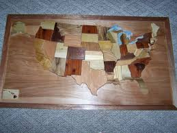 States Map Usa by Intarsia Orginal Wooden United States Map 24x42 By Woodenartbytom