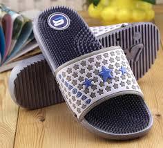 tide male word drag star pattern massage sole man slippers