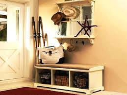 image of small entryway bench with storageentryway back and