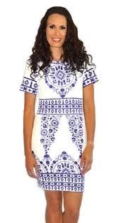 white bodycon dress blue white paisley bodycon dress