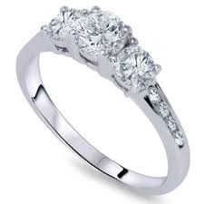 white gold diamond ring 1ct three diamond engagement ring 14k white gold ebay