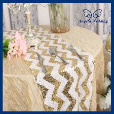 zig zag table runner ru018h wedding popular zig zag 12 108 gold and white chevron