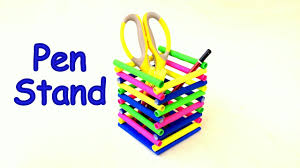 diy how to make pen stand pencil holder desk organiser from