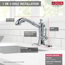 delta kitchen faucets warranty faucet 4197 ar dst in arctic stainless by delta