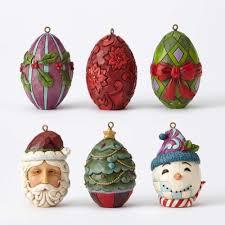 egg ornament jim shore christmas egg ornament set 4053718 holidays and memories