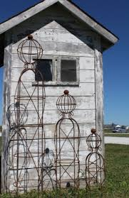 Trellis For Climbers Wrought Iron Med Stick Man Topiary Trellis For Climbers