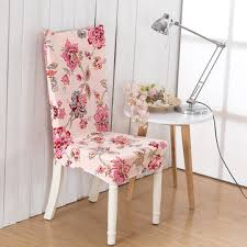 Dining Chair Seat Cover Favorable Elegant Plush Flower Elastic Stretch Chair Seat Cover