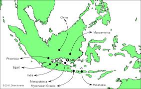 Mesoamerica Map Origins Of Post Deluge Civilizations Atlantis In The Java Sea