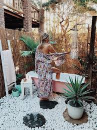 best outdoor baths ideas on pinterest gabion wall design