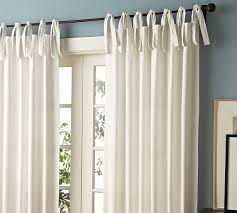 Tie Top White Curtains White Tie Top 52 Cotton Curtains Drapes Thenewhome1 Drapes