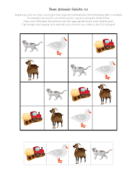 farm animals sudoku puzzles free printables gift of curiosity