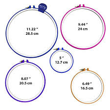 size 9 ring in uk 5 embroidery hoops cross stitch hoop ring 5 inch to 11