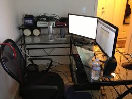 gaming setup ideas l shaped desk gaming setup best home furniture decoration