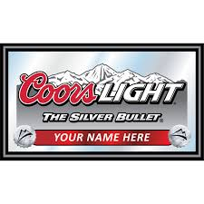 coors light bar sign customized signs personalized coors light black wood framed mirror