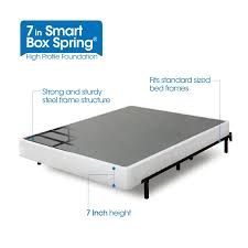 King Mattress Foundation Amazon Com Zinus 7 Inch Smart Box Spring Mattress Foundation