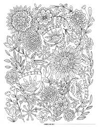 coloring pictures of flowers to print adult coloring pages flowers rallytv org
