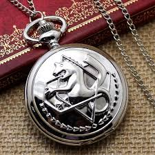 pocket watch necklace wholesale images New silver tone fullmetal alchemist pocket watch cosplay edward jpg