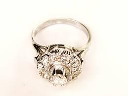 antique halo engagement ring 0 80ctw old cut diamonds art deco