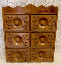 Wooden Spice Cabinet With Doors Spice Cabinet Ebay