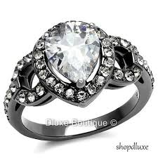 stainless steel engagement ring women s stainless steel engagement rings collection on ebay