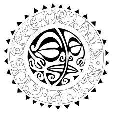 tribal sun moon flash marquesan ideas