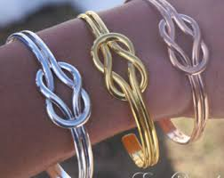 gold love knot bracelet images Gold love knot etsy jpg