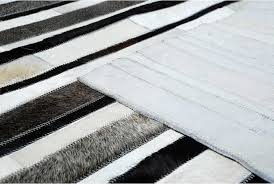 Grey Striped Rug Striped Black Gray And White Leather Area Rug Designed By Shine