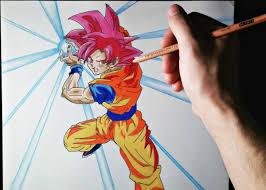 imagenes de goku para dibujar faciles con color cómo dibujar a goku modo dios artemaster how to draw goku god