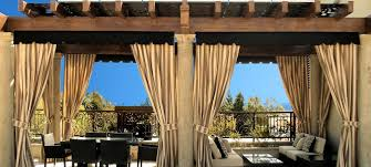 Sunbrella Curtains With Grommets by Outdoor Patio Curtains Led Lanai Lighting Outdoor Fireplaces