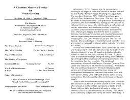 Sample Memorial Programs 10 Best Images Of Memorial Service Program Template Sample