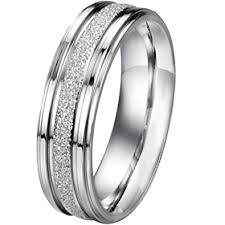 couples wedding bands men women s classic stainless steel promise ring