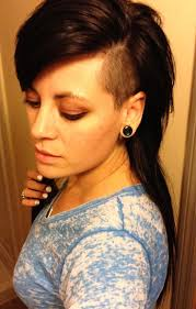haircuts for woemen shaved one side long the other long hair side shave hairstyles pinterest side shave long