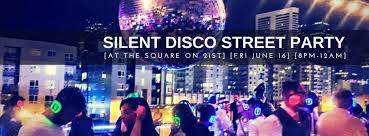 disco rental silent disco party at the square on 21st sounddown party