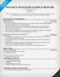 Financial Resume Example by Finance Resume Samples And Tips Irfglanq Example Financial