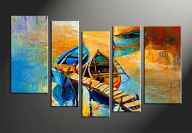 5 piece ocean beach wall art