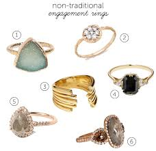 traditional engagement rings non traditional engagement rings mywedding