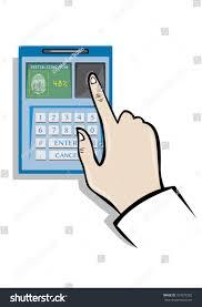 fingerprint biometrics technology concept editable clip stock