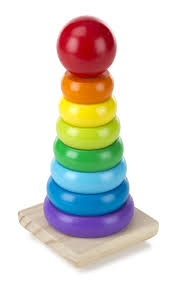 Shaped Box Toy Plan by Amazon Com Melissa U0026 Doug Rainbow Stacker Wooden Ring Educational