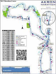 of akron map akron marathon 2014 2015 date registration course route map